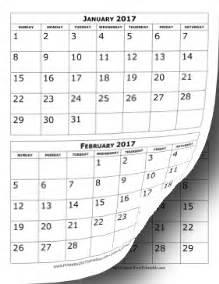 calendar template 3 months per page printable 2017 calendar two months per page