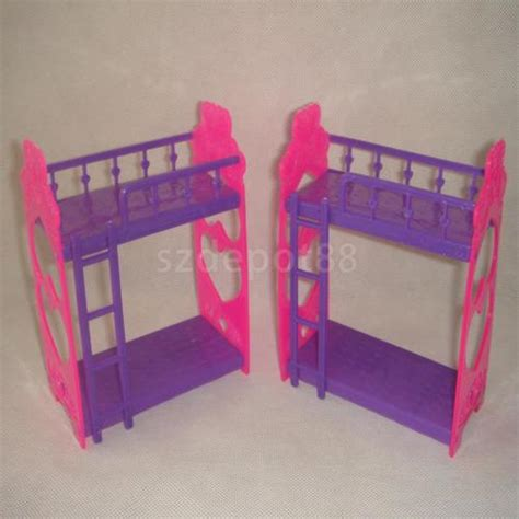 barbie doll bunk beds random 1pc plastic bunk bed furniture accessory for barbie sister kelly doll ebay