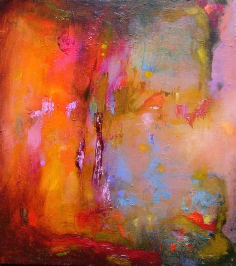 pictures of abstract paintings abstract painting original orange bright small
