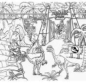 Of Dinosaurs To Color Jurassic Park Dinosaur Drawing For Kids Art