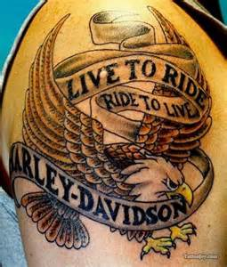 Man Cave Designs Garage live to ride harley davidson eagle tattoo tattoos
