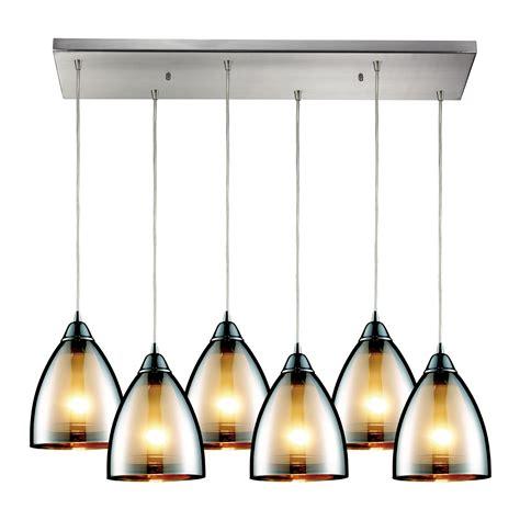 Multi Pendant Ceiling Light Elk Lighting 10073 6rc Reflections 6 Light Multi Pendant Ceiling Fixture
