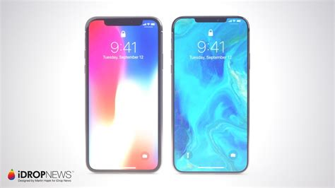 renders imagine future iphone x w smaller notch bezel flush more 9to5mac