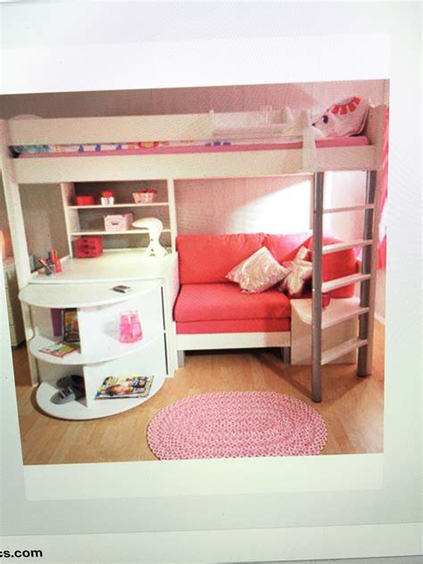 Pink Futon Bunk Bed With Desk Roselawnlutheran