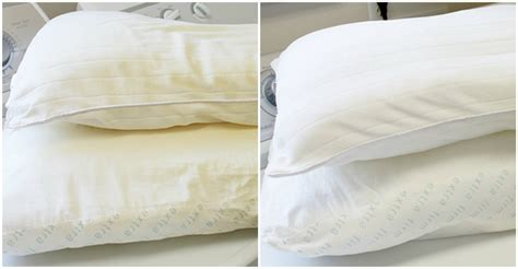 Can Pillows Be Washed by How To Whiten And Brighten Your Yellow Pillows