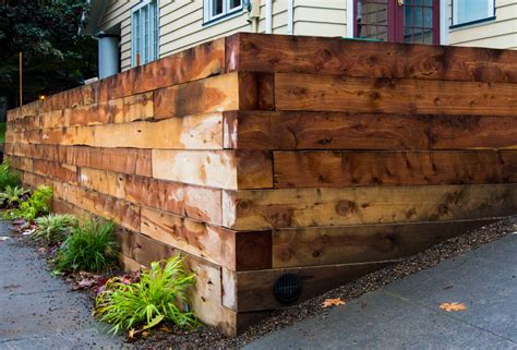 Landscape Timbers For Retaining Wall Hefty 6x6 Juniper Landscaping Timbers Were Used For This