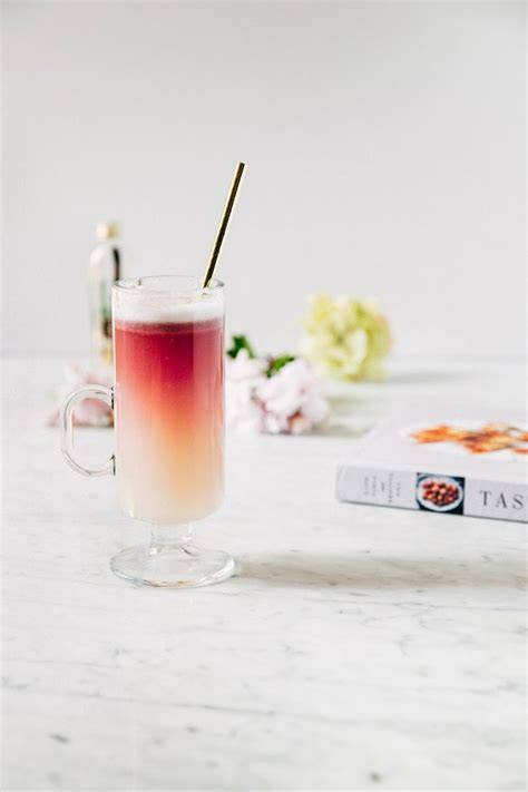 red wine gin sour cocktail recipe from tasting rome on