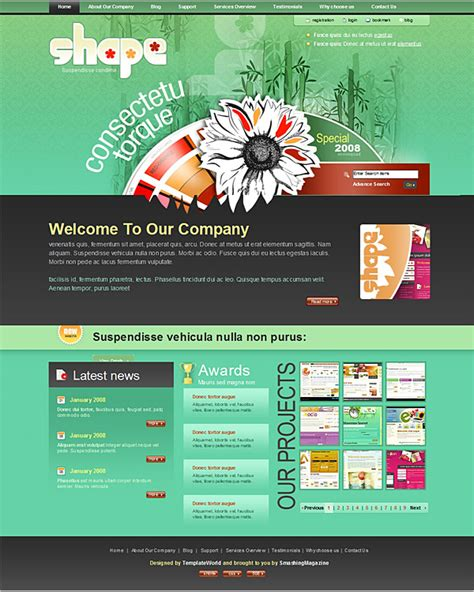 30 High Quality Free Psd Website Templates To Download Dzineblog Com Quality Website Templates