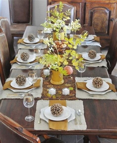 table setting ideas 30 thanksgiving table setting ideas for a festive d 233 cor