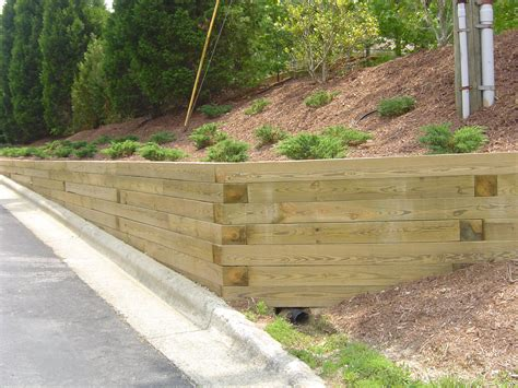 How To Build A Wood Retaining Wall Farmhouse Design And How To Build A Garden Wall On A Slope