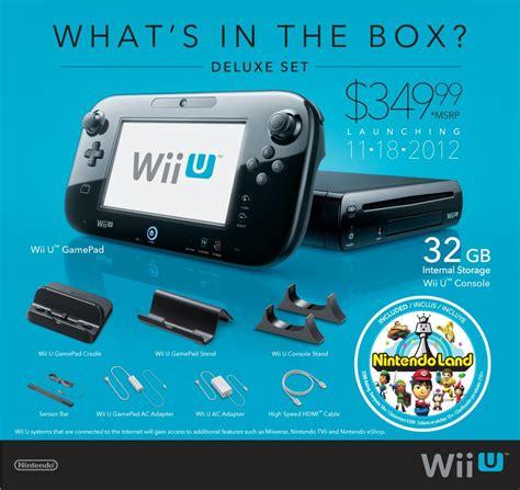 wii u console price news nintendo announces the wii u release date for