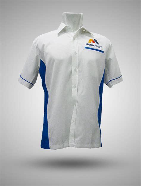 Jaket Biru Putih Parasut kemeja taipan tropical mega asset putih biru produsen