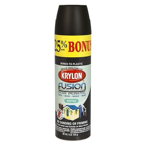 krylon black satin fusion spray paint 15 oz paint home decor walmart