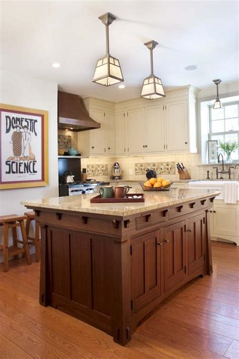 Mission Style Island Lighting Delorme Designs White Craftsman Style Kitchens