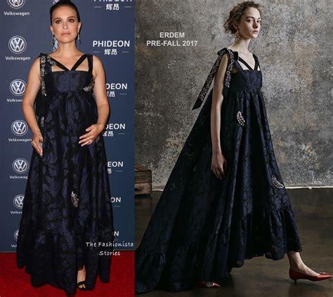 Fashion Portman Set 3 In 1 6162 natalie portman in erdem at the 21st annual huading global awards