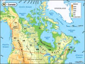 map of the us and canada physical features canada inhabitants visit canada physical features canad
