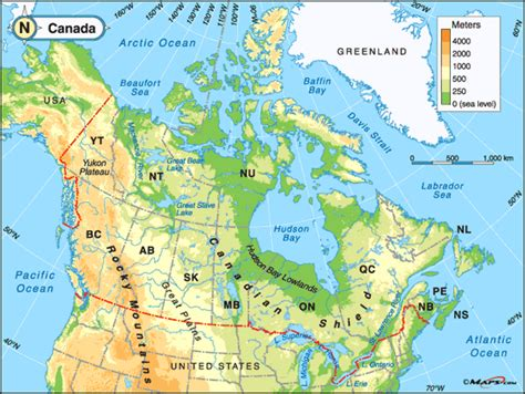 map of canada physical maps101 login