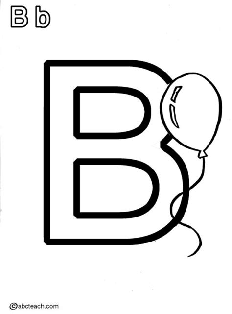 free coloring pages of letter b for ball