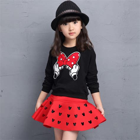 Set Minnie Denim Kid aliexpress buy clothes 2016 brands minnie toddler clothing sets back to