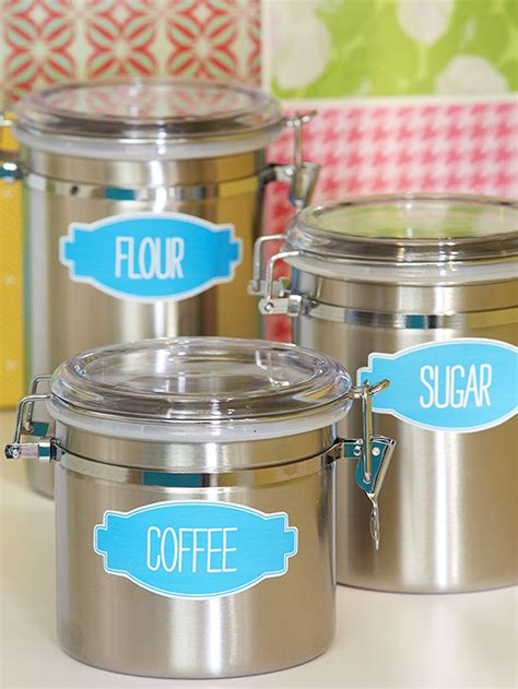 kitchen canister labels dayri me canister labels