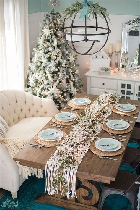 french country farmhouse christmas dining room table setting merry bright french country