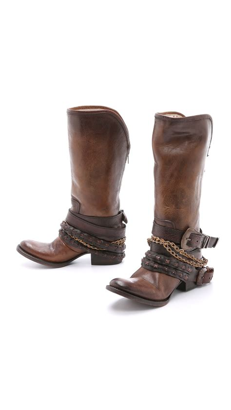 free bird boots freebird by steven harness boots brown in