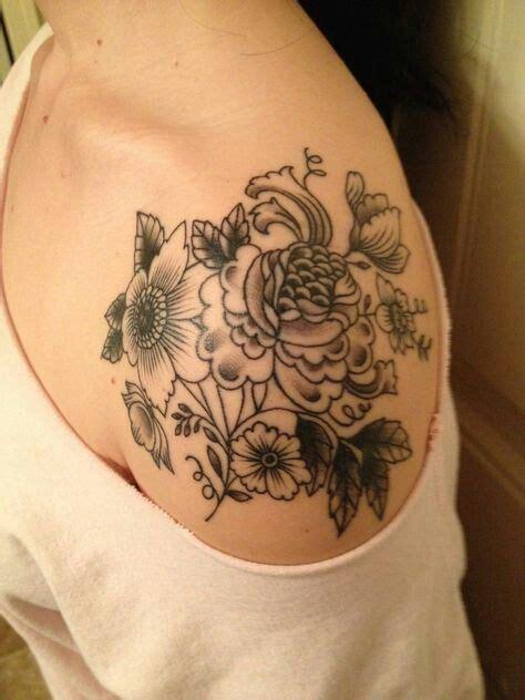 shoulder piece tattoo designs 17 best ideas about flower shoulder on