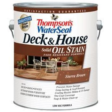 thompsons water seal deck house oil stain solid sierra