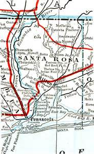 map of santa rosa florida santa rosa county 1917