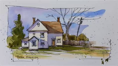 Painting Ideas For House by Pen And Wash Demonstration Of A Country Farmhouse Easy To