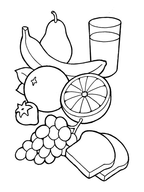 food drawings free clip healthy food coloring clipart clipart suggest