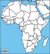 blank political map of africa africa map