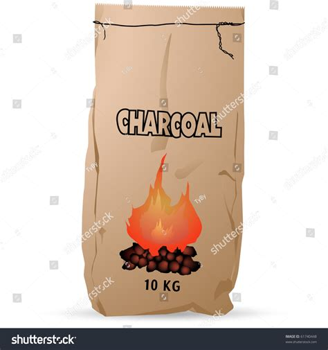 How To Make Paper Charcoal - charcoal paper bag vector isolated on stock vector