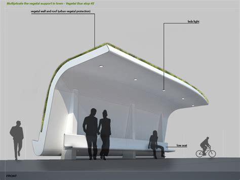 designboom urban furniture vegetal bus stop designboom com