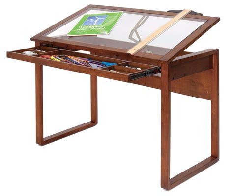 pattern drafting table mesa dibujo restirador madera sonoma marr 243 n y vidrio