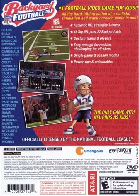 backyard football 08 backyard football 08 sony playstation 2 game
