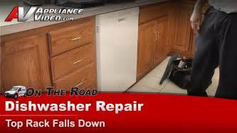 How To Remove Top Rack Of Kitchenaid Dishwasher Dishwasher Repair Top Rack Supports Rollers Whirlpool