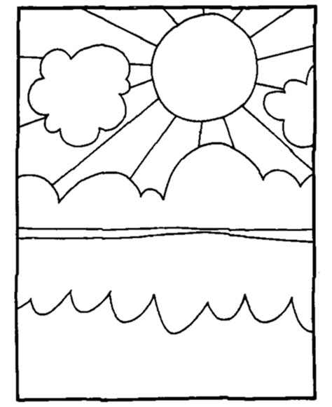 sky coloring page coloring home