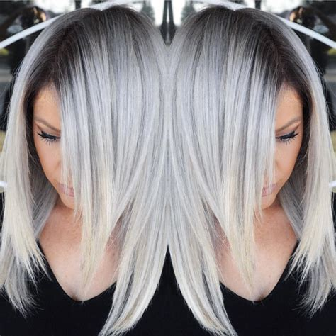 silver blonde haircolor stunning multidimensional silver hair color design with