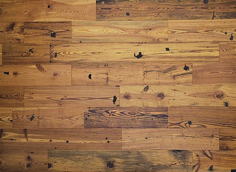 Antique Reclaimed Heart Pine Engineered Unfinished Wood