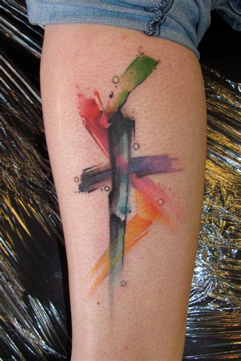 christian watercolor tattoo watercolor cross tattoo want 2014 more art for my