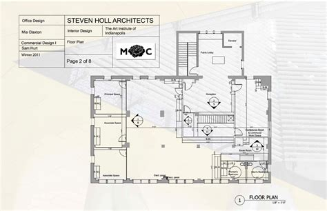 layout of post office aim to design steven holl architects office space