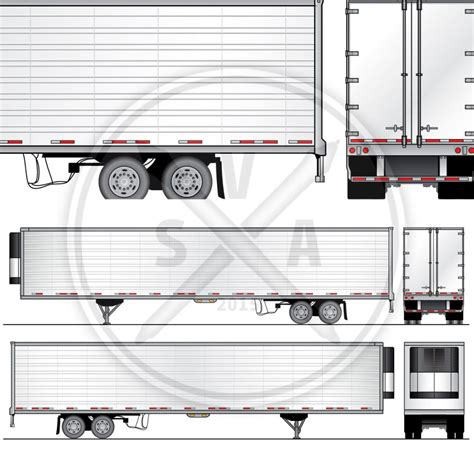 53 Reefer Trailer Design Template Stock Vector Art Trailer Templates Free