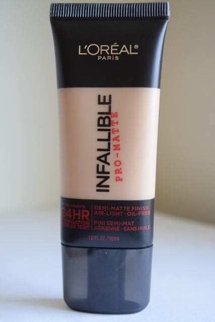 L Oreal Infallible Pro Matte 24 Hour Foundation Harga l oreal infallible pro matte 24 hr foundation review