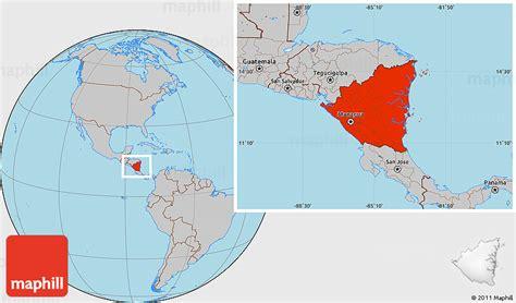 nicaragua location on world map nicaragua location