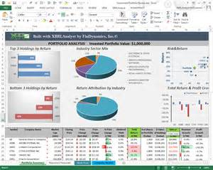 Sle Investment Portfolio Templates by Excel Exles Templates Findynamics