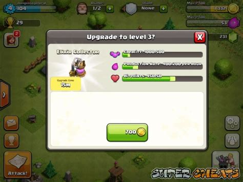 how to upgrade players in clash of clans elixir clash of clans