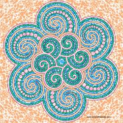 color mandala don t eat the paste spiral mandala to color