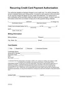 Credit Card Payment Form Template Pdf by Free Recurring Credit Card Authorization Form Pdf Word
