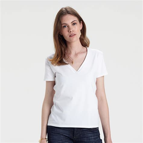 women s the ultimate women s white v neck t shirt yunion t